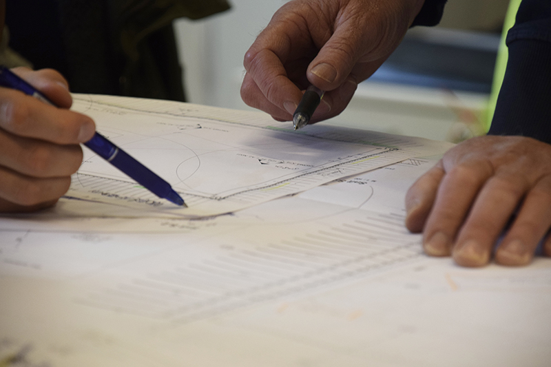 NCC byggeplads - planlægning, arbejdstegninger