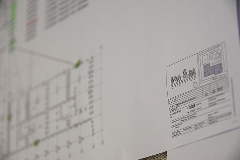 Arbejdstegning ifht prøvepæle på Papirøen