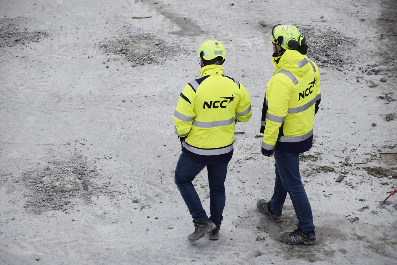 NCC folk på PAPIRØENS byggeplads