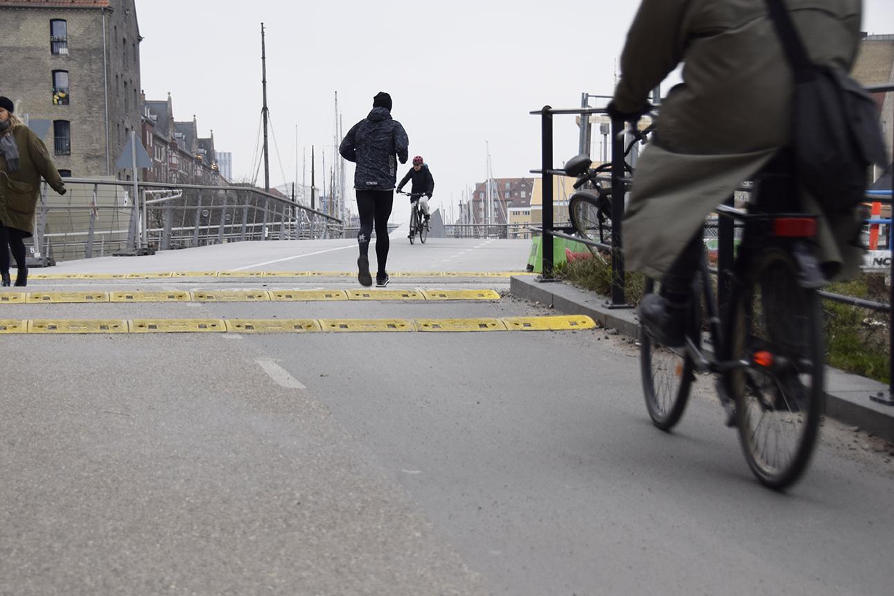 Trafik ved PAPIRØENS byggeplads