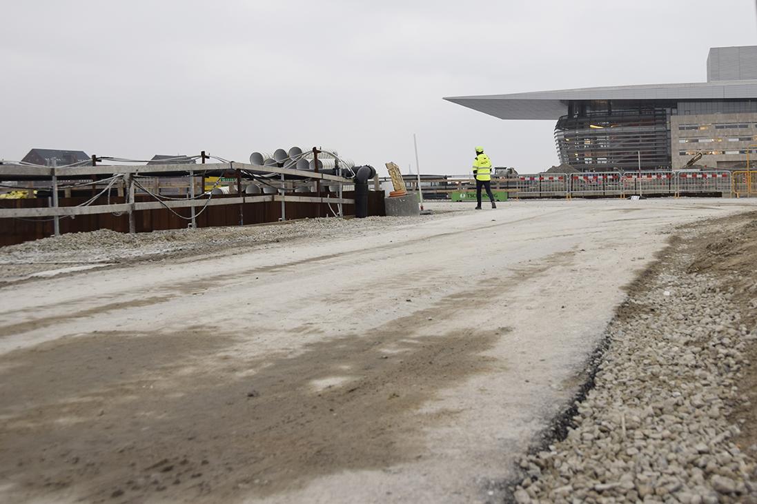 NCC PAPIRØENS byggeplads vej