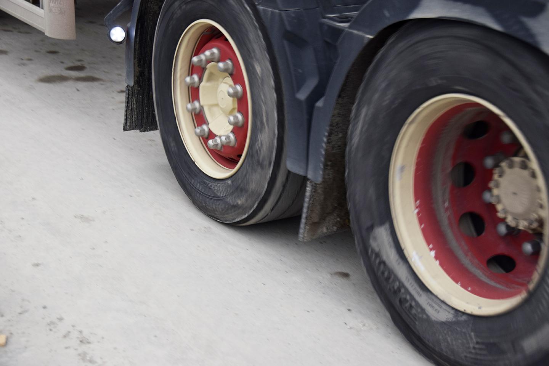 Lastbil PAPIRØENS byggeplads