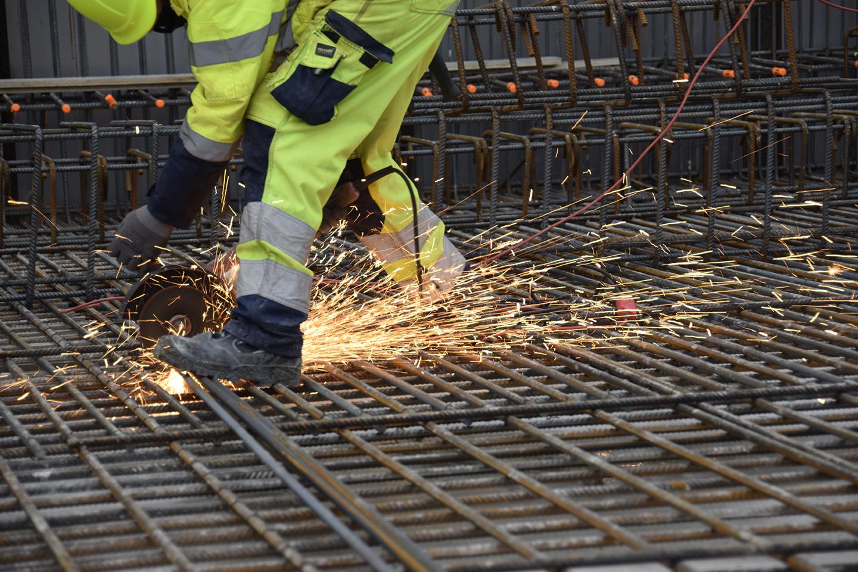 Armeringsarbejde PAPIRØENS byggeplads
