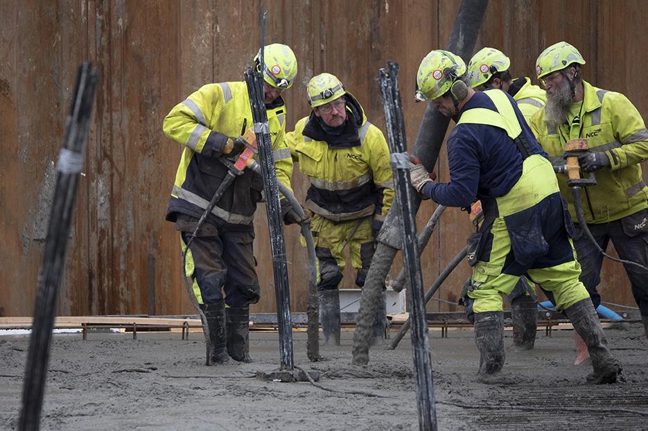Støbearbejde PAPIRØENS byggeplads