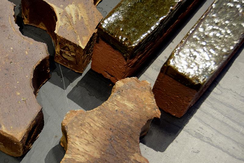 Petersen Tegl - materialeprøver, showroom i København.