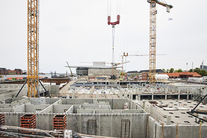 PAPIRØEN - udsigt over byggepladsen.