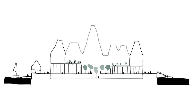 PAPIRØEN - skitse diagram, Cobe